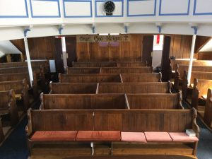 Pews from pulpit