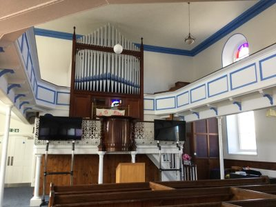 Worship area from back