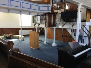 Worship area front from side