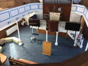 Worship area front from gallery